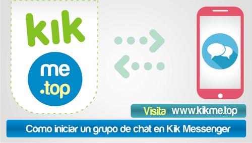 Como iniciar un grupo de chat en Kik Messenger