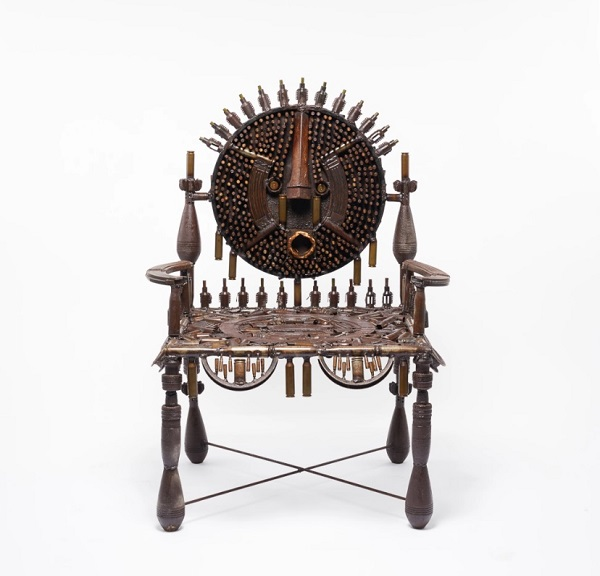 Gonçalo Mabunda, Untitled (throne), 2017 | artworks, metal sculptures, contemporary african art pictures