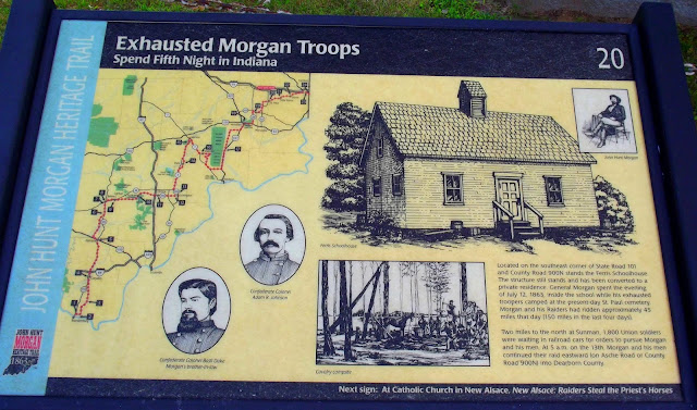 Morgan's Raid at Sunman, Ripley County Indiana