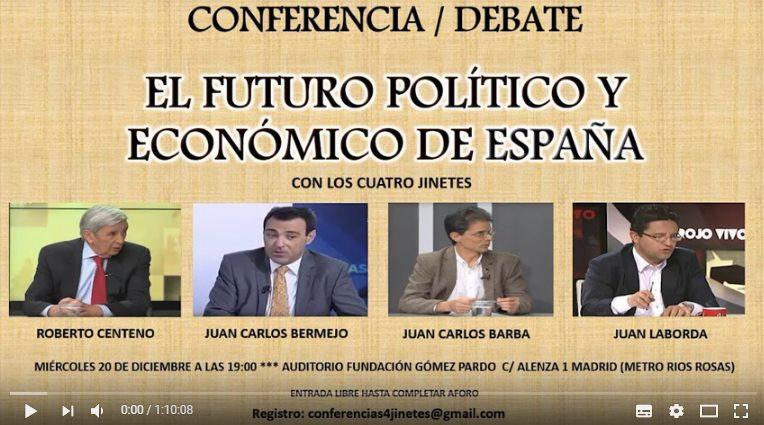 conferencia Roberto Centeno, Juan Carlos Barba, Juan Laborda y Juan Carlos Bermejo.