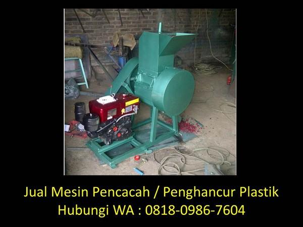 mesin cacah sampah plastik di bandung