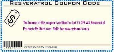 Resveratrol coupon at iHerb