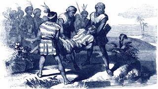 Huáscar es ahogado en el río Andamarca.