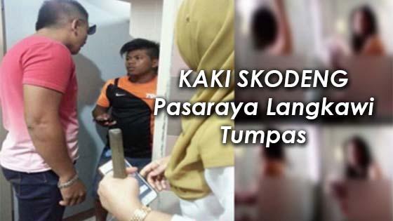Remaja Skodeng Wanita Dalam Tandas di Pasaraya Langkawi Kantoi