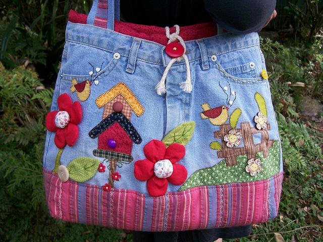 Bolsa De Tecido Jeans Passo A Passo : Como fazer uma bolsa de cal?a jeans velha passo ?