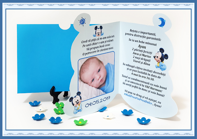 invitatii botez mickey mouse