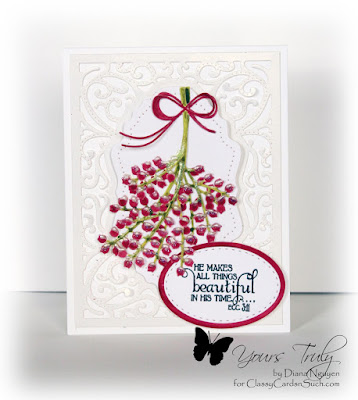 Diana Nguyen, Our Daily Bread Designs, Faith, Poppystamps, Holiday Winterberries, Vintage Flourish Pattern