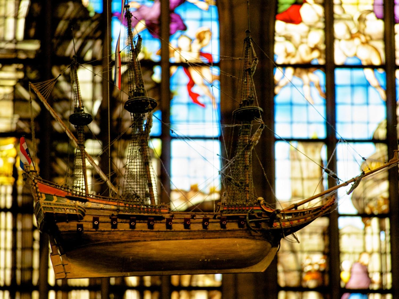 Interior de la Oude Kerk Amsterdam