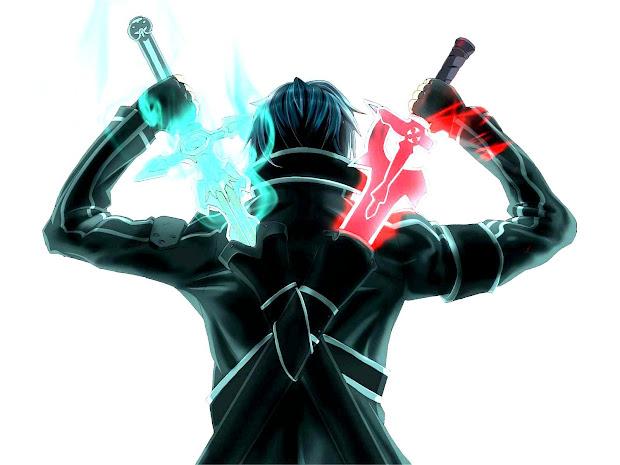 Attach Two Swords Of Kirito' Costume