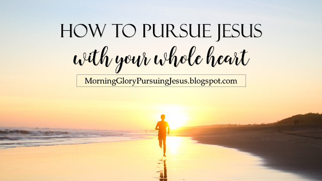 Morning Glory Girl Pursuing Jesus with Your Whole Heart