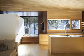 Casa en el bosque en Quebec