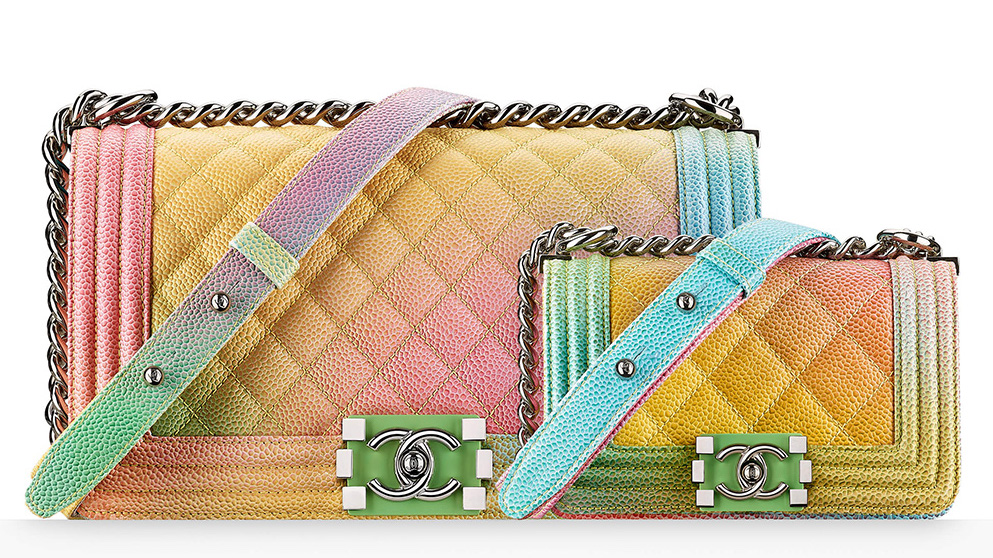 Chanel's Coco Cuba Multicoloured Ombré Boy Bags