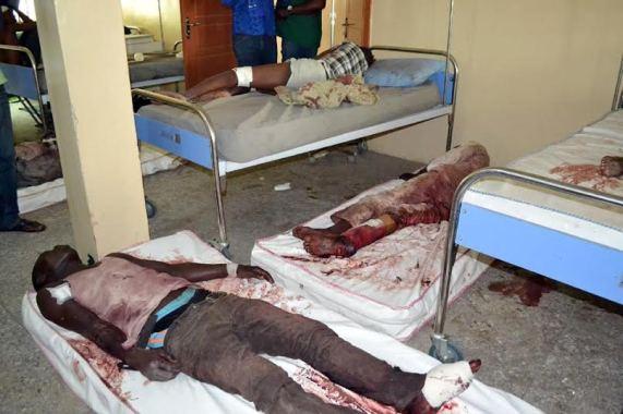 Photo shows some victims of a Maiduguri multiple bomb blast