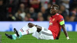 Paul Pogba set to be sidelined for 6 weeks