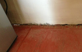 floor separating from walls