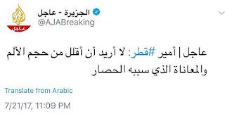 شاهد تناقض أمير قطر في تصريحه الأخير! (فيديو)