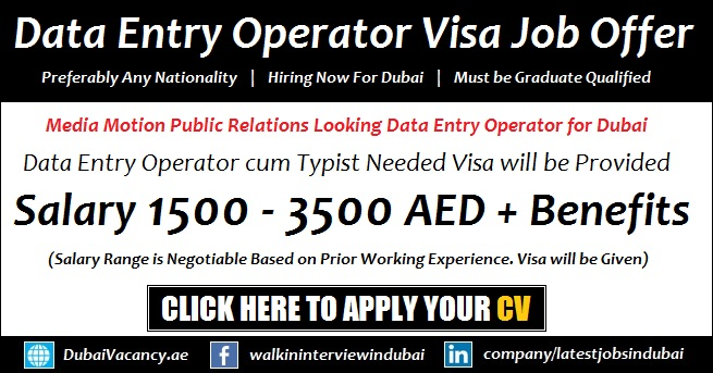 Data Entry Operator Jobs with Visa Offers