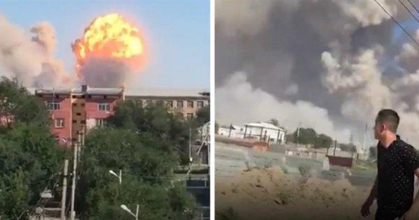 Εκρήξεις σε αποθήκη πυρομαχικών στο Καζακστάν: Εκκενώθηκε ολόκληρη πόλη – Ένας νεκρός (βίντεο)