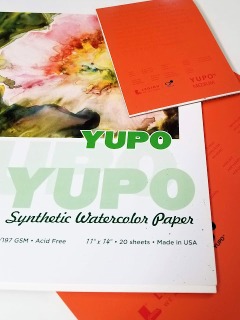 Yupo synthetic paper in various sizes.