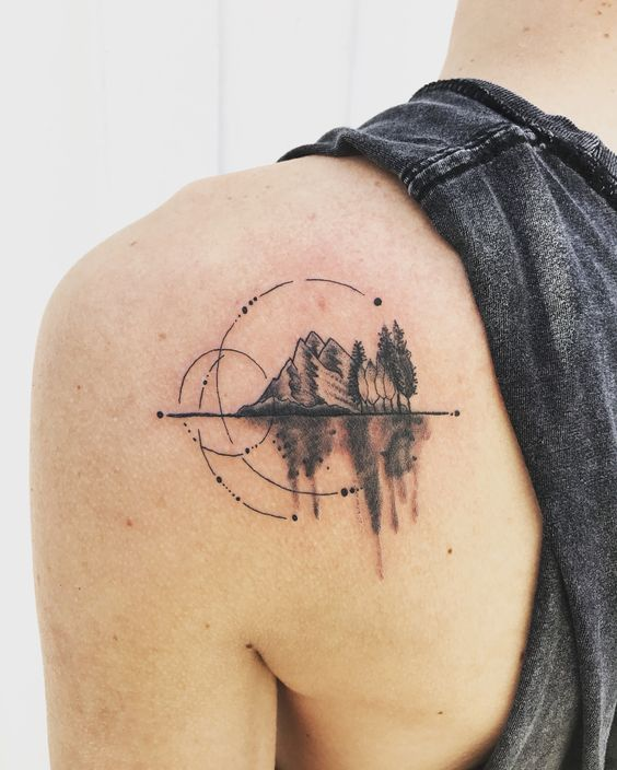 22 Amazing Mountain Tattoos, (Natural Tattoo Designs