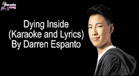 Dying Inside To Hold You By Darren Espanto (Lyrics, Mp3, Minus One)