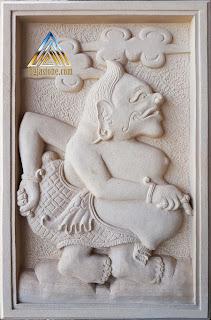 Ukiran relief gambar semar