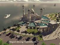 Tak Lama Lagi Aceh Selatan akan Miliki Masjid Terapung di Laut