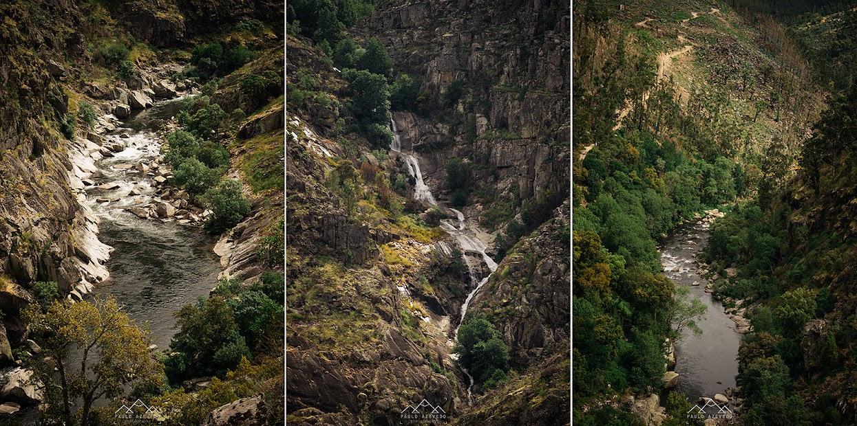 Tríptico com pormenores do rio Paiva