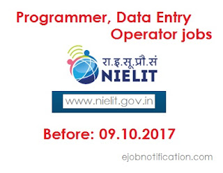 NIELIT Chandigarh Programmer, Data Entry Operator job Notification 2017 on www.nielit.gov.in