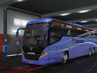 Scania Tourism HD Skin Bus for official Design for 1.32 to 1.34