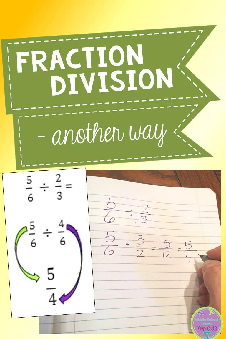 Middle School Math Moments (and more!): Fraction Division - Another Way?