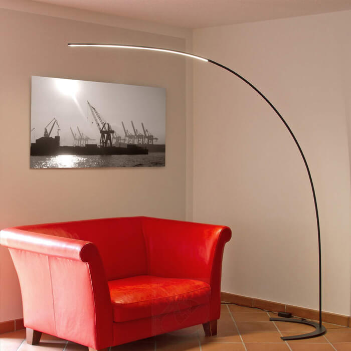 Photo arch lamp with LED lighting