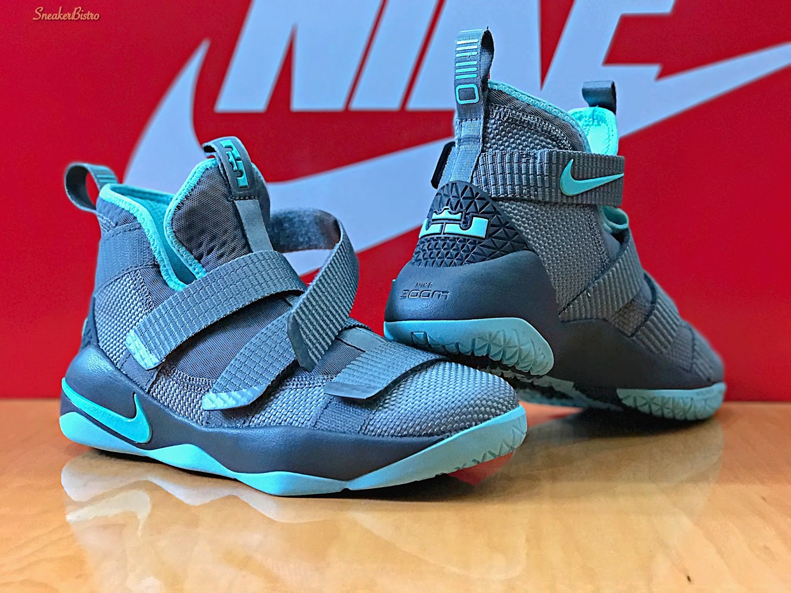 dabf6ab1e729 ... all black basketball shoe 33eef 0c3b6  coupon code for lebron soldier xi  gs cool gray island green 0c58e 2c455