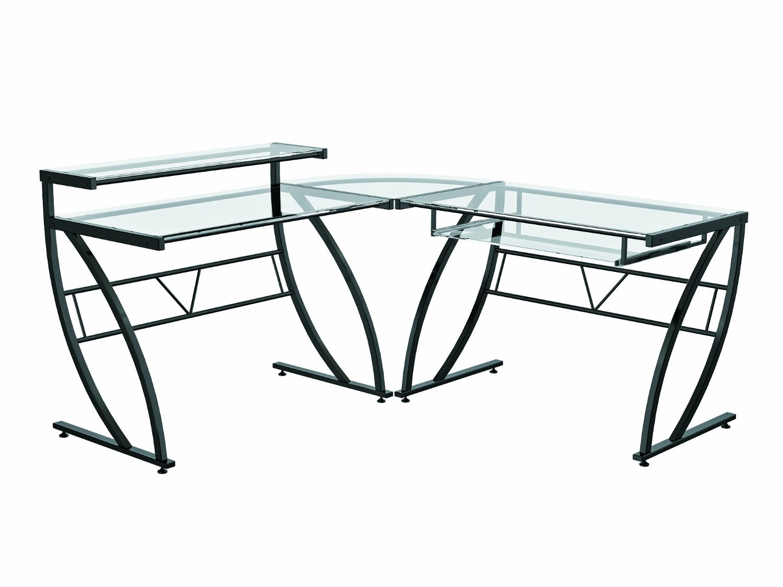 Glass Desk: Glass Corner Desk