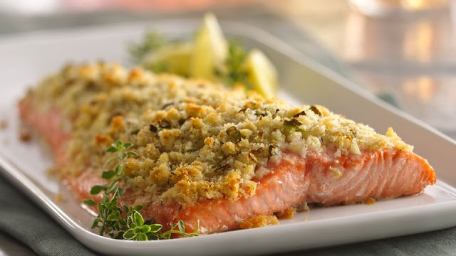 Now you can make crusted salmon that tastes like it Lemon- and Parmesan-Crusted Salmon Recipe