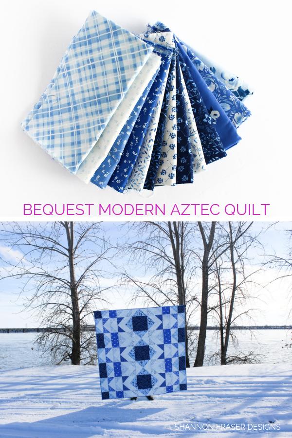 Modern Aztec Quilt | Briar Hill Designs' Bequest Maker's Tour | Shannon Fraser Designs | Modern Quilts