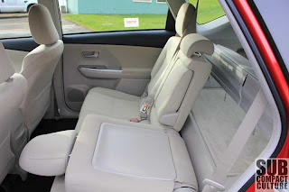 2012 Toyota Prius v back seat - Subcompact Culture