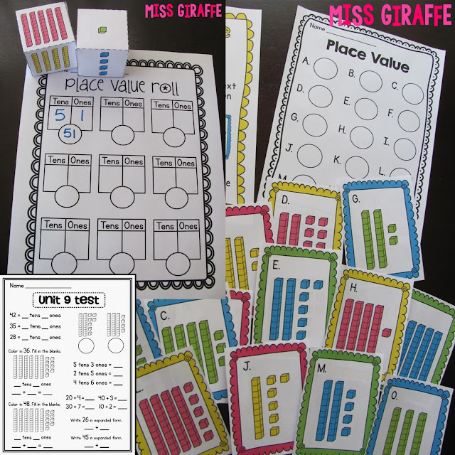 Place value games and activities for center rotations or small group lessons that make learning numbers a lot of fun in kindergarten or first grade