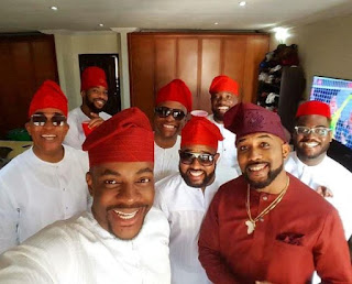 BankyW Steps Out With His Brothers & Friends For Wedding Introduction to Adesua Etomi 1