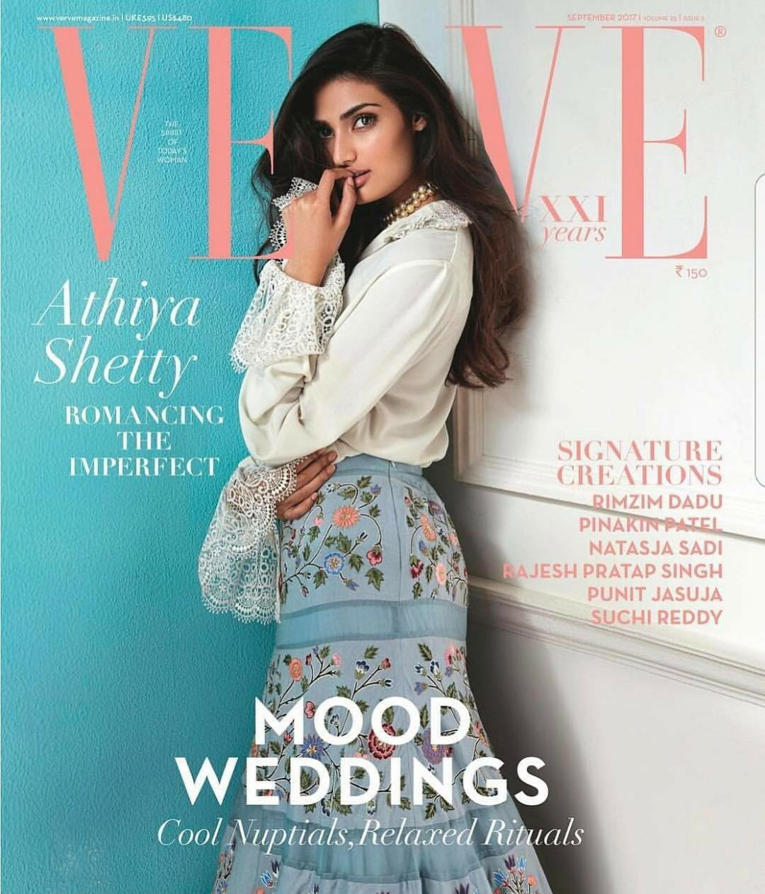 Athiya Shetty On Verve September 2017 Cover