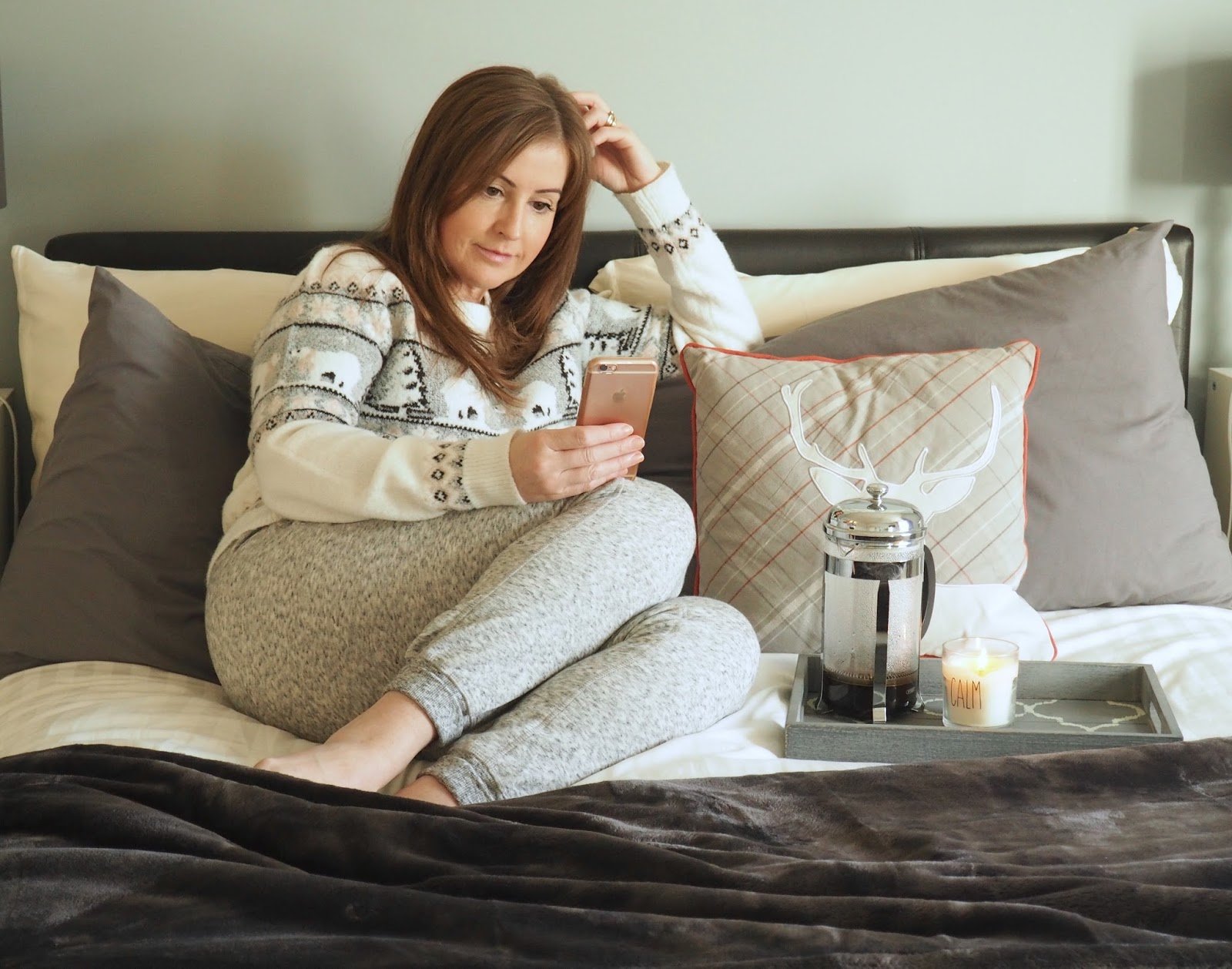 Time to chill Topshop Neppy joggers Primark Christmas jumper Priceless Life of Mine Over 40 lifestyle blog