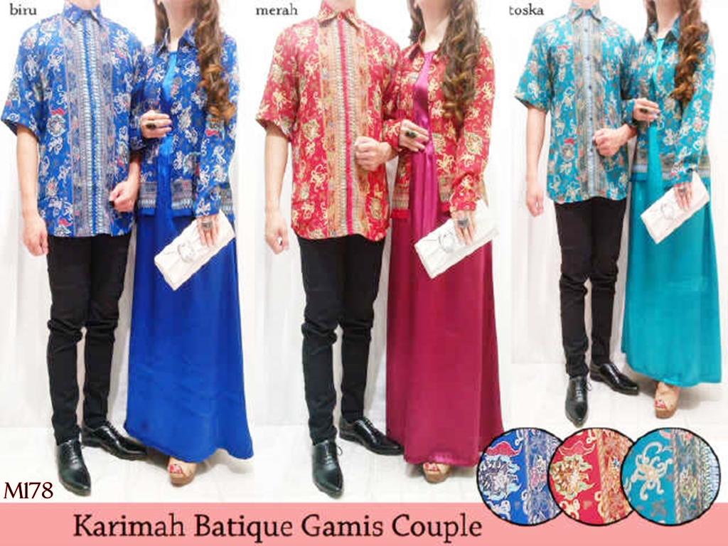 Couple katun 106977 batik fabian Reseller baju gamis couple · Butik muslim  toko danish danishshop m178 karimah Reseller baju gamis couple adaa4d96c1