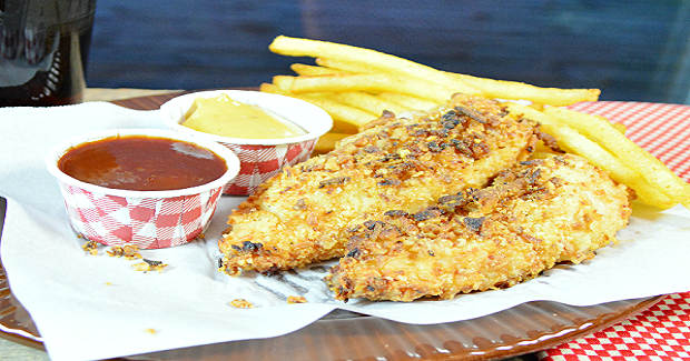Crunchy Onion Chicken Fingers  Recipe