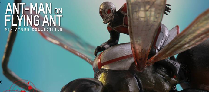 Hot Toys Ant-man on Flying Ant Miniature Collectible Figure