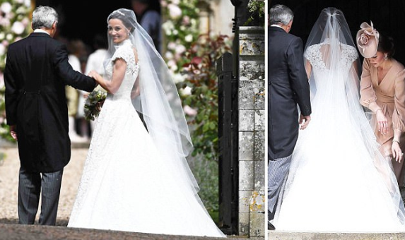 Here comes the bride! Pippa Middleton arrives at the Church for her wedding to James Matthews (photos)