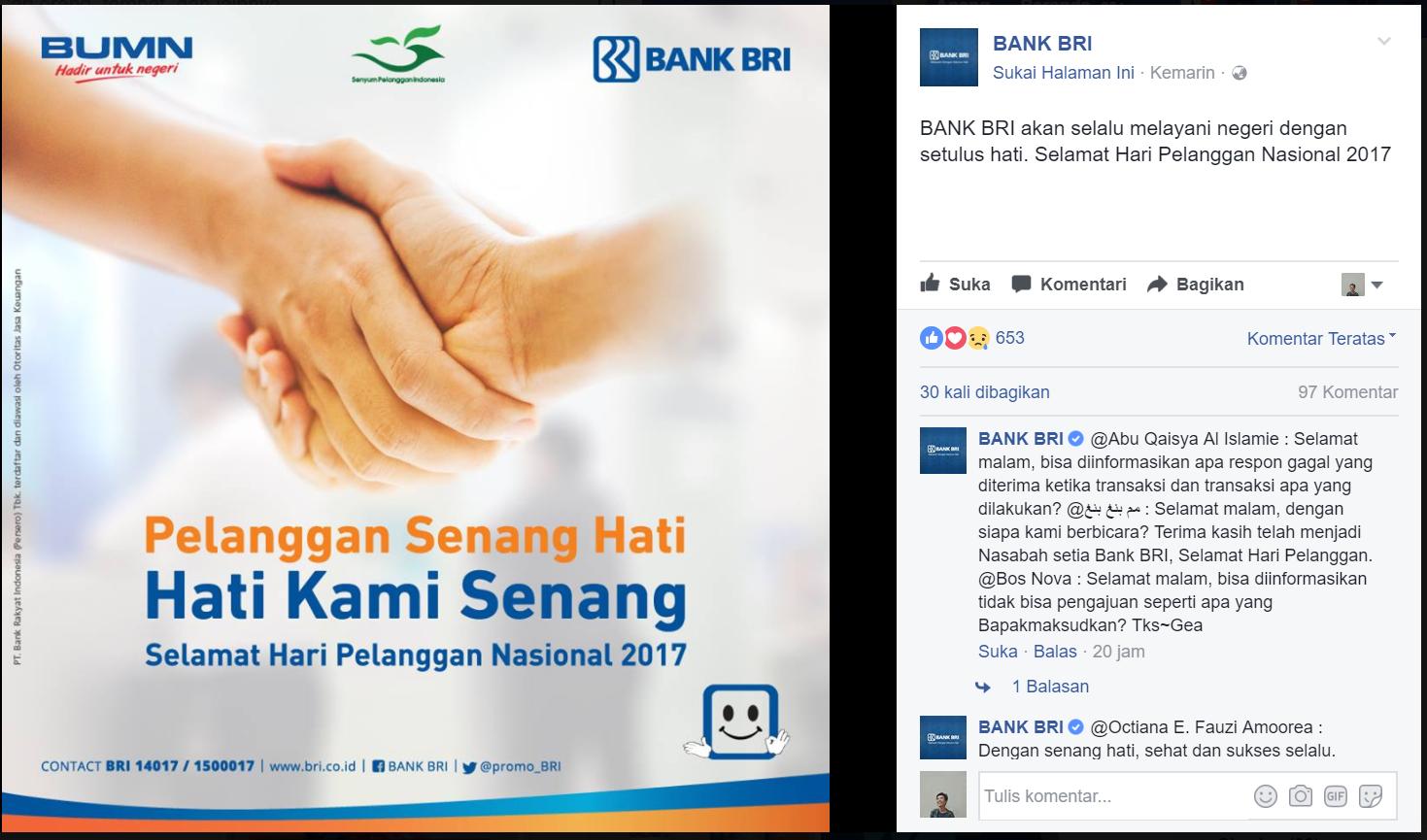 Hari Pelanggan Nasional BANK BRI