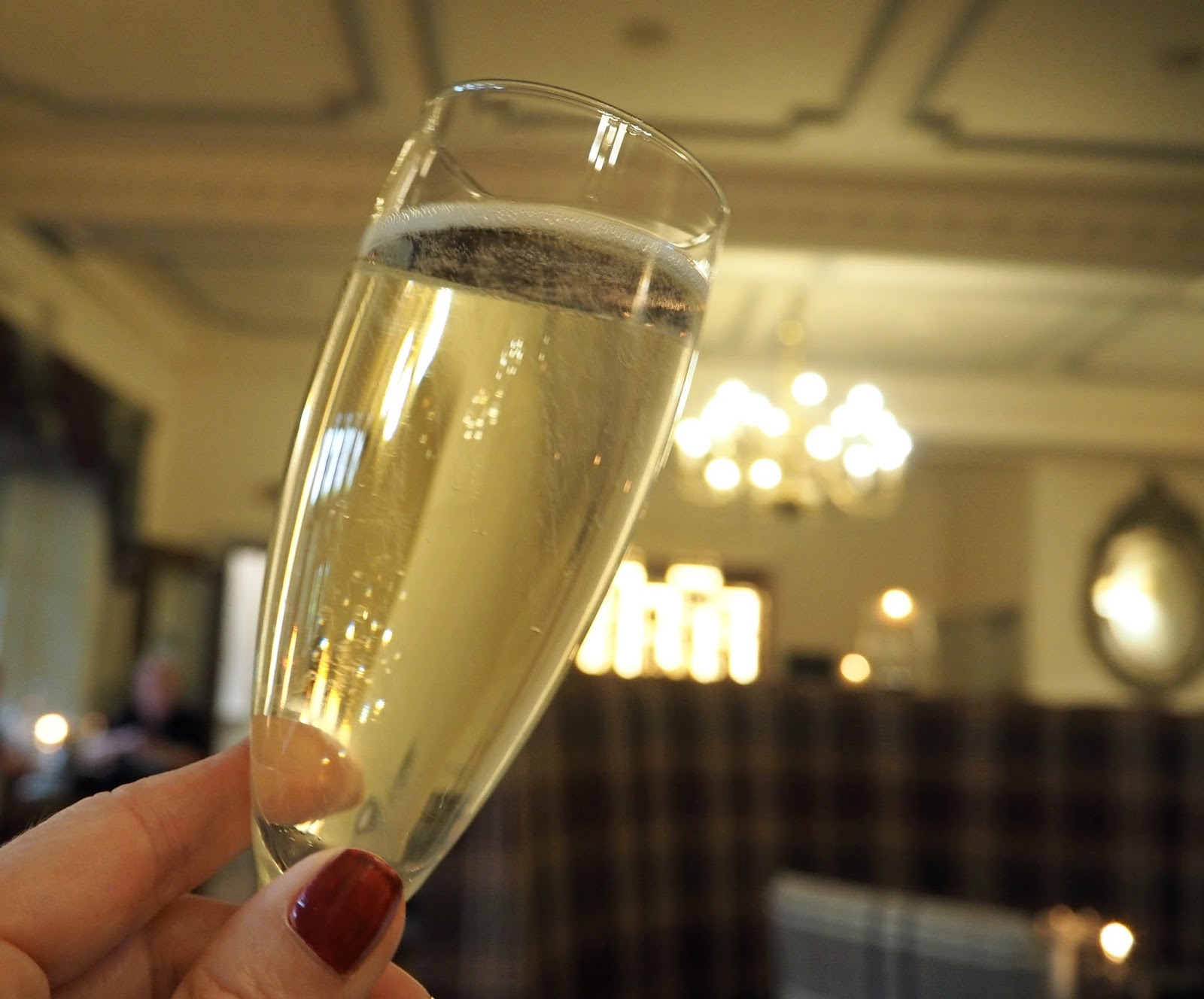 Prime restaurant, Stirk House, Gisburn, prosecco and dinner
