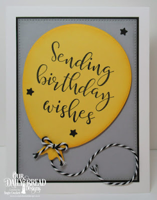 Our Daily Bread Designs Stamp Set: Big Birthday Bolds, Custom Dies: Big Balloon, Sparkling Stars, Pierced Rectangles