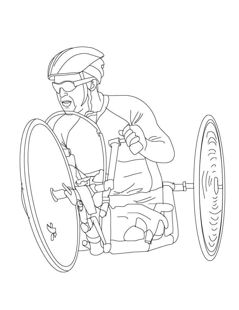 desenhos para colorir e imprimir sobre os jogos paraolímpicos sÓ