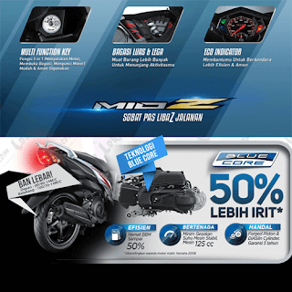 Fitur dan Spesifikasi Motor Yamaha Mio Z terbaru